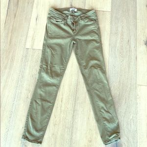 Paige jeans soft green Verdugo ankle pants